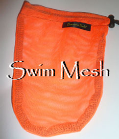 Neon Orange Swim mesh banana peelz bag