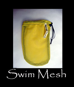 Yellow Swim Mesh banana peelz bag